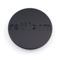 Rotiform Matte Black SnapIn Wheel Center Cap R112BLQ, R157BUC, R137CCV, R134FLG
