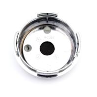 Enkei Chrome Black Snap In Center Cap fits Draco Wheels Part# PCJ46