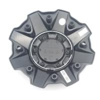 Fuel Gloss Black Orange Wheel Center Cap for 5/6/8 Lug Sledge D631