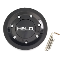 Helo Gloss Black Bolt On Center Cap fits HE912 Style Wheels Part# HE912CAP-GB