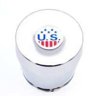 US Mags Chrome 8 Lug Push Thru Center Cap fits Indy-U101 Truck Wheels