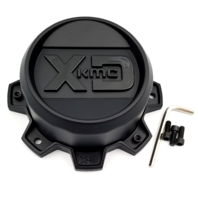 KMC XD Matte Black 8 Lug 2 pc Wheel Center Cap for XD134 Addict 2