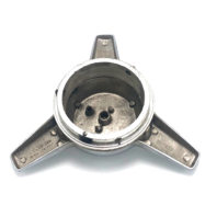 Spinner Tri Bar Wheel Center Cap Screw On Chrome with Adapter & Limited Sticker