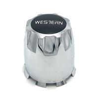 Western Wheel Chroem Push Thru Center Hub Cap 99-2579