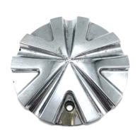 """Forte F1 Chrome Wheel Center Hub Cap 6.75"""" OD Bolt On S1050-F001"""