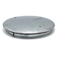 "Superior Wheel Center Hub Cap 5.5"" OD Snap In Chrome No 263 Missing 1 Metal Clip"