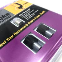 McGard Jeep Security Door Locks M6x1.0 for Wrangler JK 2 Door Locks + Key 76057