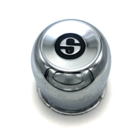 "Superior Wheel Center Hub Cap 4.5"" Push Thru Chrome"