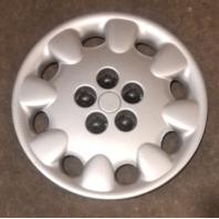 "1998-1999 OEM Dodge Neon 14"" Silver Hubcap Wheel Cover Part# 4656376AC"