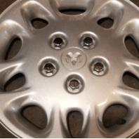 "1996-2000 OEM Dodge Caravan 15"" Silver Hubcap Wheel Cover Part# 4684262"