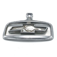 Chevrolet Hood Emblem Ornament 1991-96 Chevy Caprice Silver with Gold Bowtie