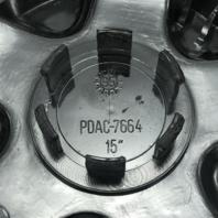 "Mangels 15"" Wheel Center Hub Cap 6"" Chrome Snap In PDAC-7664"