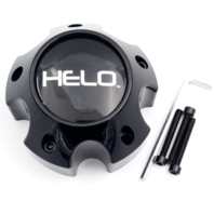 Helo Bolt On Gloss Black 5 Lug Center Cap for HE879 Wheels Part# 1079L121HE1GB
