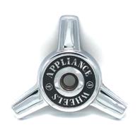 Appliance Wheels 3 Bar Chrome Spinner Cap Bolt On 00464