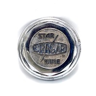 "Cragar Star Wire Wheel Center Hub Cap Chrome Metal Bolt On 3.5"" OD 6026115"