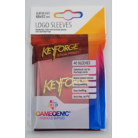 KeyForge: Logo Sleeves - Red (40) Game Genic Sleeve Size 66x92mm