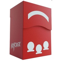 KeyForge: Gemini Deck Box - Red w/ Drawer for Accessories