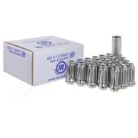 West Coast 6 Lug Installation Kit Set of 24 14mmx1.5 Spline Lug Nuts + Key