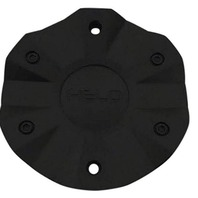 Helo Satin Black  Bolt-On 6 Lug Center Cap fits HE887 Wheels Part# HE982S01