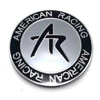 "AR American Racing Sniper Wheel Center Hub Cap 2.42"" Snap In Silver 1242100S"