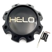 Helo Satin Black 8 Lug Bolt On Center Cap for HE904 Wheels P/N: 1079L170HE1SBDC