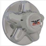 "Phoenix USA Chrome Plated 5 Lug Trailer Wheel Center Hub Cap 4.5"" ABS Plastic"