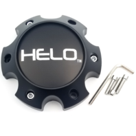 Helo Satin Black Bolt On 6 Lug Only Center Cap for HE901 HE904 HE900 HE886