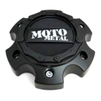 Moto Metal Satin Black 6x5.5 6x139.7 Bolt On Center Cap for MO971 Wheels
