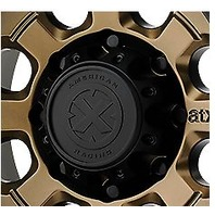 American Racing ATX Satin Black 8Lug Bolt On Center Cap for AX201 AX202 Wheels