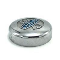 "Cragar S/S Super Sport Mag Wheel Center Hub Cap 3.25"" OD Chrome Metal Bolt On"