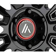 Asanti Gloss Black 5x4.5 Center Cap for AB807 AB809 AB812 Wheels 130L1205GB-H34