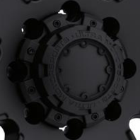 Ultra Wheel Center Cap 8 Lug Satin Black Bolt On 89-9879B for 195 198 237 238