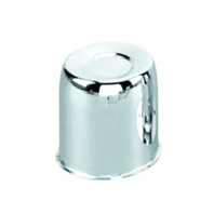 "Topline Push Thru Wheel Center Hub Cap Chromed Steel 3.30"" OD x 3.40"" Tall C116"