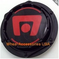 Motegi Racing Black w/ Red Logo Center Cap for MR116/MR117/MR118 Wheels P/NM603R