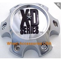 KMC XDS Short Chrome 6X4.5 Center Cap for XD796/797/79 Wheels P/N 309B11436H