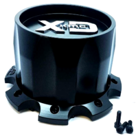 KMC XD Satin Black Center Cap for Dually XD130 Wheels P/N: T112H202-H124-S1