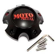 Moto Metal Black W/ Red 5X127 Center Cap for MO978 Razor Wheels 1079L121SGBMO1RC