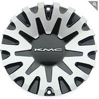 KMC Gloss Black Machined Center Cap for KM682 Spider Wheels P/N SC-191B
