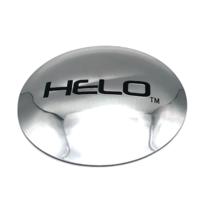 """Helo 4.5"""" Chrome Logo Sticker for HE878 8 Lug Wheel Center Hub Cap Dented"""