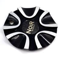 Noir Wheels Black and Machined Bolt-On Wheel Center Cap P/N: HY-CAP-054