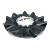 "Touren TR22 3222 Wheel Center Cap 5.75"" OD Gloss Black Chrome w/ Machined Center"