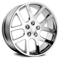 Topline Replica V1136 Viper SRT-10 5x139.7 Chrome Wheel Center Cap P/N: TC-001