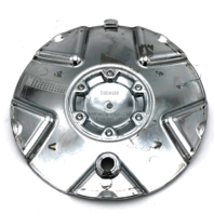 "Panther Wheel Center Hub Cap 6-1/8"" Diameter Chrome Bolt On EMR0531-CAR-CAP"