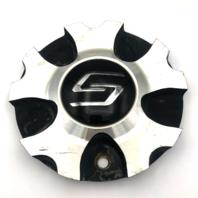 "Sacchi Wheel Center Hub Cap 6"" Diameter Black & Machined Bolt On C10248B"