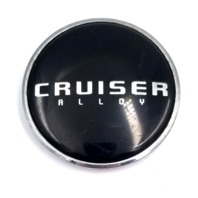 "Cruiser Alloy Aftermarket Black 2.87"" Dia Snap-In Wheel Center Cap Part# 931C01"