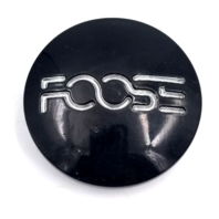 "Foose Gloss Black Snap In 2.32"" Dia Wheel Center Cap P/N: M-421BK01"