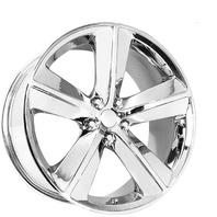 Topline Wheel Replicas Chrome 5 Spoke 20x9 Challenger Wheel Center Cap P/N: V1159