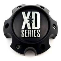 KMC XD Spy Addict Revolver Flat Black 6 Lug GMC Wheel Center Cap 1079L145MB