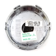 "Asanti Chrome Snap In 2.89"" Dia Wheel Center Cap P/N: 743C01"
