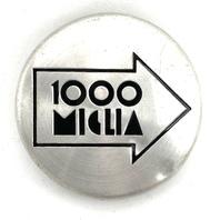 """1000 Miglia Machined Snap In Wheel Center Hub Cap 2"""" OD"""